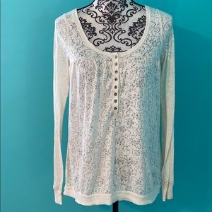 Free People Sheer Lightweight Longsleeve Top